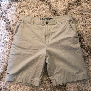 Lacoste Mens Flat Front Shorts EUR 44 US 34